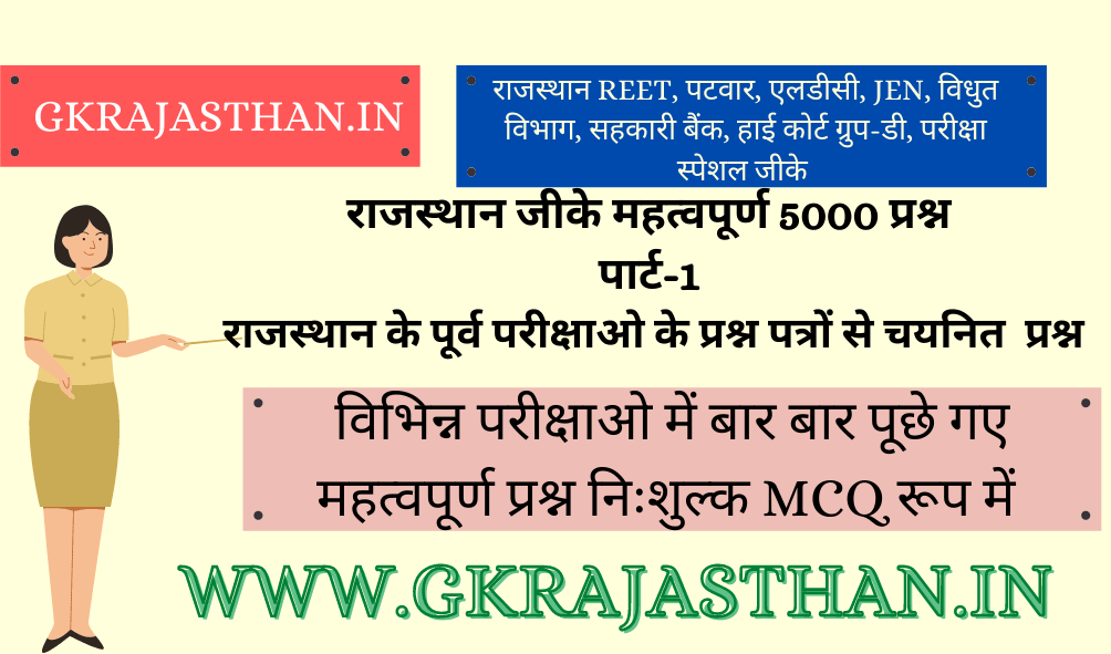 Rajasthan GK Important 5000 Questions Part-1