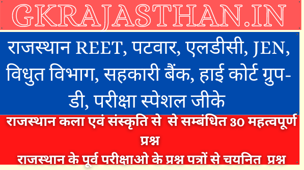Rajasthan Art And Culture Questions Part-2